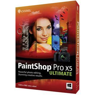 Corel Paint Shop Pro X5 Ultimate 32/64 Bit Deutsch Grafik FPP PC (DVD)