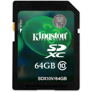 64 GB Kingston Flash Card SDX10V SDXC Class 10 Bulk