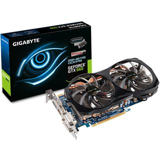 2048MB Gigabyte GeForce GTX 660 OC 2xWindforce Aktiv PCIe 3.0 x16 (Retail)