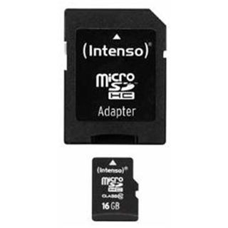 16 GB Intenso SDHC Class 4 Retail inkl. USB-Adapter