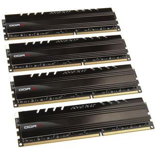 16GB Avexir Core Series blaue LED DDR3-1600 DIMM CL9 Quad Kit