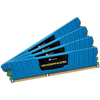 32GB Corsair Vengeance LP blau DDR3-1600 DIMM CL10 Quad Kit