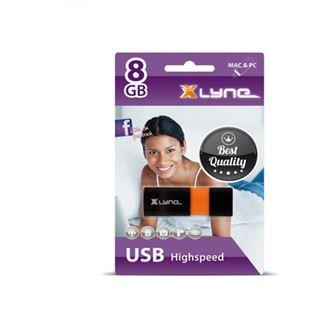 8 GB xlyne Wave schwarz/orange USB 2.0