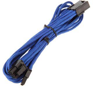 BitFenix 6+2-Pin PCIe Verlängerung 45cm - sleeved blau/schwarz
