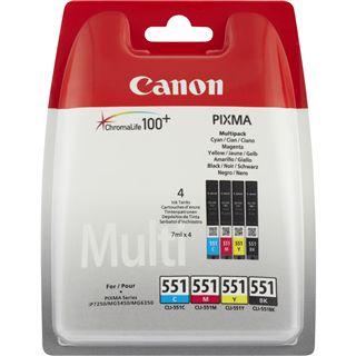 Canon Tinte CLI-551 Multipack 6509B008 schwarz, cyan, magenta, gelb