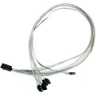 (€28,63*/1m) 0.80m Adaptec SAS 6Gb/s Anschlusskabel SFF-8643 Stecker auf 4xSATA Stecker Grau