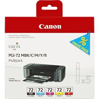 Canon Tinte PGI-72MP Multipack 6402B009 schwarz matt, cyan ,magenta, gelb, rot