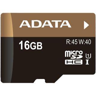 16 GB ADATA Premier Pro UHS-I microSDHC Class 10 Bulk inkl. Adapter auf SD