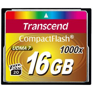 16 GB Transcend Compact Flash TypI 1000x Bulk