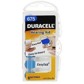 Duracell Hearing Aid DA675 Zink-Luft 1.4 V 6er Pack