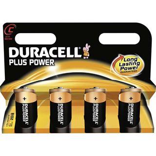 Duracell Plus Power C / Baby Alkaline 1.5 V 4er Pack