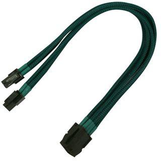 Nanoxia 30 cm grünes Verlängerungskabel für 8-Pin EPS zu 2x 4-Pin EPS (NX8PV3EG)