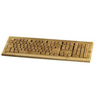Hama Multimedia Funktastatur Bambus Deutsch bambus (kabellos)