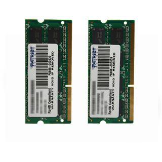 8GB Patriot Signature DDR3-1600 SO-DIMM CL11 Dual Kit