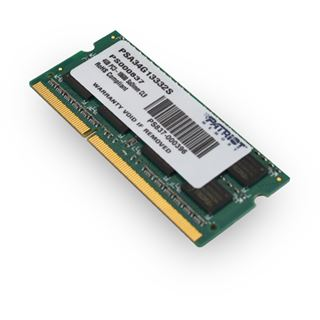 4GB Patriot Mac Series DDR3-1333 SO-DIMM CL9 Single