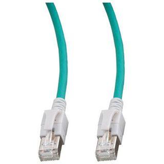 1.00m Good Connections Cat. 6a Patchkabel S/FTP PiMF RJ45 Stecker auf RJ45 Stecker Grün halogenfrei/mit Leuchtstecker