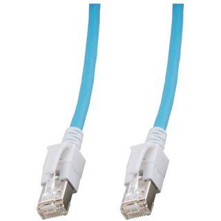 3.00m Good Connections Cat. 6a S/FTP PiMF RJ45 Stecker auf RJ45 Stecker Blau halogenfrei/mit Leuchtstecker