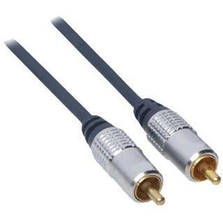 1.00m Good Connections Audio Anschlusskabel Cinch Stecker auf Cinch Stecker Schwarz/Silber vergoldet