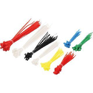 Kabelbinder Logilink Set, 200 Stück verschiedene Farben