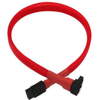 Nanoxia 0,3m SATA 6GB/s Anschlusskabel rot gewinkelt für Mainboards (NXS6G3R)
