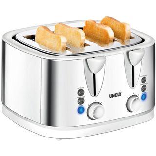 Unold 38801 Quattro 4-Scheiben-Toaster weiß - silber