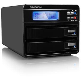 "Raidon GR3630-WSB3 3.5"" (8,89cm) eSATA/FireWire 800/USB 3.0 schwarz"