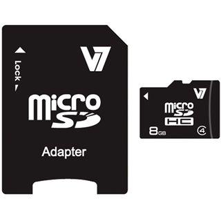 8 GB V7 ECC microSDHC Class 4 Bulk inkl. Adapter auf SD