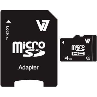 4 GB V7 microSDHC Class 4 Retail inkl. Adapter