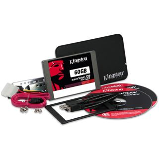 "60GB Kingston SSDNow V300 Upgrade Kit 2.5"" (6.4cm) SATA 6Gb/s MLC asynchron (SV300S3B7A/60G)"
