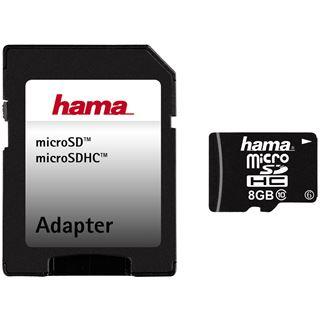 8 GB Hama microSDHC Class 10 Retail inkl. Adapter