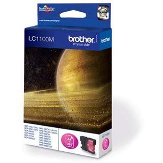 Brother LC-1100 Tintenpatrone magenta Standardkapazität 7.5ml 325 Seiten 1-pack blister ohne Alarm