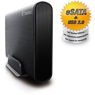 """Fantec DB-AluSky U2e 3.5"""" (8,89cm) eSATA/USB 2.0 schwarz"""