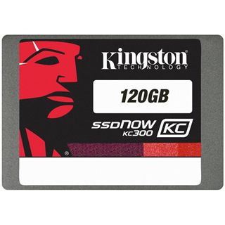 "120GB Kingston SSD Now KC300 2.5"" (6.4cm) SATA 6Gb/s MLC asynchron (SKC300S37A/120G)"