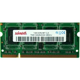 1GB takeMS Value DDR2-667 SO-DIMM CL5 Single