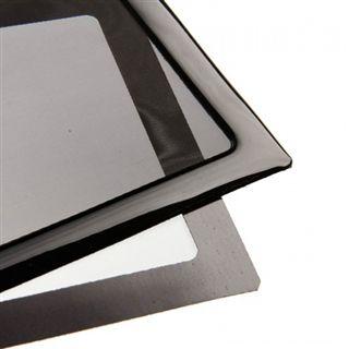 DEMCiflex 360mm schwarz Staubfilter für Radiator (3x120mm Square black mesh/magn)