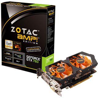 2048MB ZOTAC GeForce GTX 760 AMP! Aktiv PCIe 3.0 x16 (Retail)