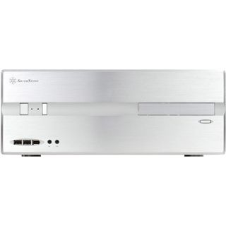 Silverstone Lascala LC10-E USB 3.0 Desktop ohne Netzteil silber