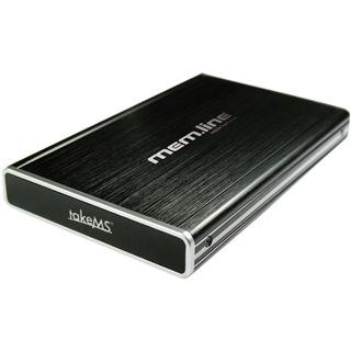 "takeMS mem.line 2,5"" (6,35cm) black SATA, USB 2.0, Alu"