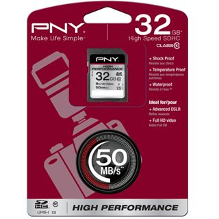 32 GB PNY High Performance SDHC Class 10 Retail