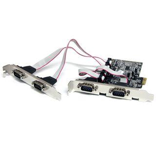 Startech PEX4S553 4 Port PCIe x1 zweites Slotblech retail