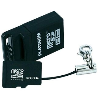 32 GB Platinum BestMedia microSDHC Class 6 Retail inkl. USB-Adapter