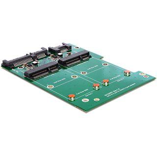 Delock SATA auf 2x mSATA Konverter für mSATA SSD (62480)
