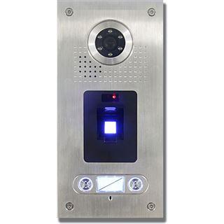 AE Farb-Videotürsprechanlage m. Fingerprint für 2 Familien Aussenstation