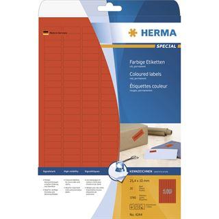Herma 4244 rot Universal-Etiketten 2.54x1 cm (20 Blatt (3780 Etiketten))
