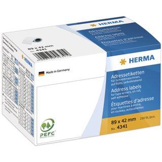 Herma 4341 Adressetiketten auf Rollen 8.9x4.2 cm (250 Stück)
