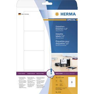 Herma 4355 Disketten-Etiketten 7x6.77 cm (25 Blatt (200 Etiketten))