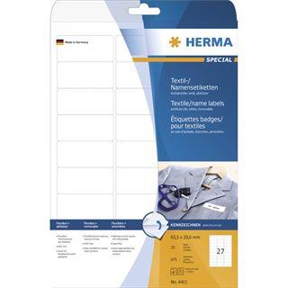 Herma 4411 Namensetiketten 6.35x2.96 cm (25 Blatt (675 Etiketten))