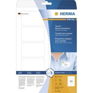 Herma 4412 trennbar ablösbar Textetiketten 5x8 cm (25 Blatt ( 250 Etiketten))