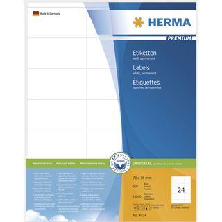 Herma 4414 Premium Universal-Etiketten 7.0x3.6 cm (500 Blatt (12000 Etiketten))