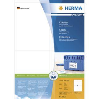 Herma 4454 Premium Universal-Etiketten 10.5x14.4 cm (100 Blatt (400 Etiketten))